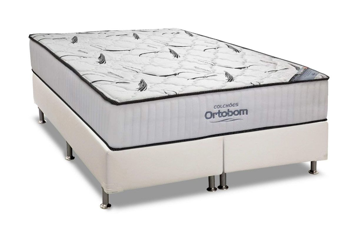 Conjunto Box: Colchão Ortobom High  Foam + Cama Courino White