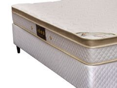 Conjunto Box Colchão Herval de Molas Pocket Premium Firm + Cama Box Base Universal White