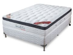 Conjunto Box: Colchão Orthocrin Pocket Speciale + Cama Couríno White