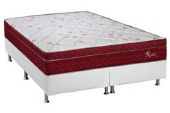 Conjunto Box: Colchão Polar Molas Superlastic Rubi + Cama Box Courino White