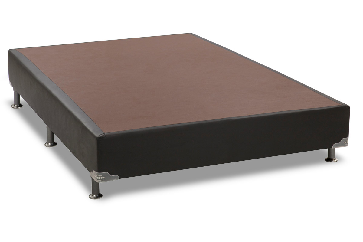 Cama Box Base Universal Ortobom  Couríno Nero Black 20