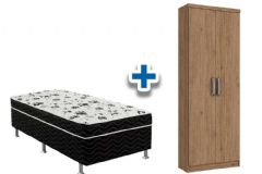 Cama Box Ortobom Union+Armário Henn Margarida